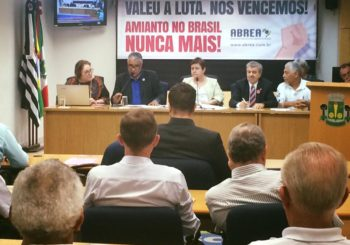 Na Câmara Municipal de Osasco, Marcos Martins participa de discussão sobre a efetiva proibição do amianto