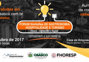Fórum SinHoRes de Gastronomia, Hospitalidade e Turismo conta com palestras de grandes personalidades do setor