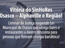 Vitória do SinHoRes Osasco – Alphaville e Região! Liminar da Justiça suspende lei que obriga restaurantes e bares a darem desconto para pessoas que fizeram cirurgia bariátrica